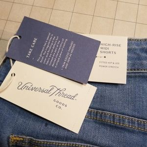 Universal Thread Shorts - NWT Universal Thread High Rise Midi Jean Shorts